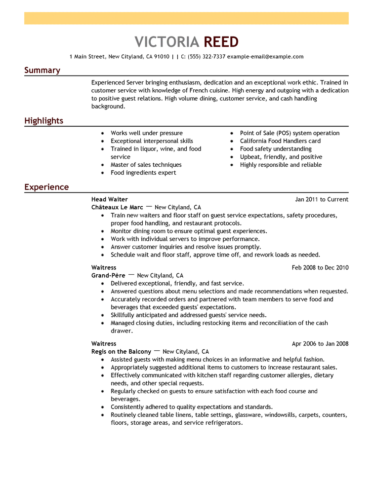 Images Of Resume Examples