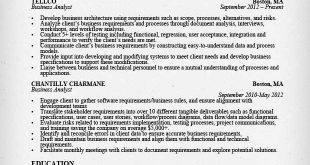 Resume Examples Analyst