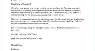 Resume Format Cover Letter