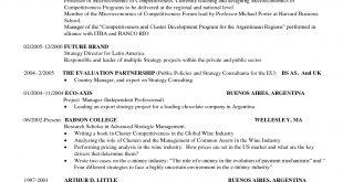 Resume Format Harvard