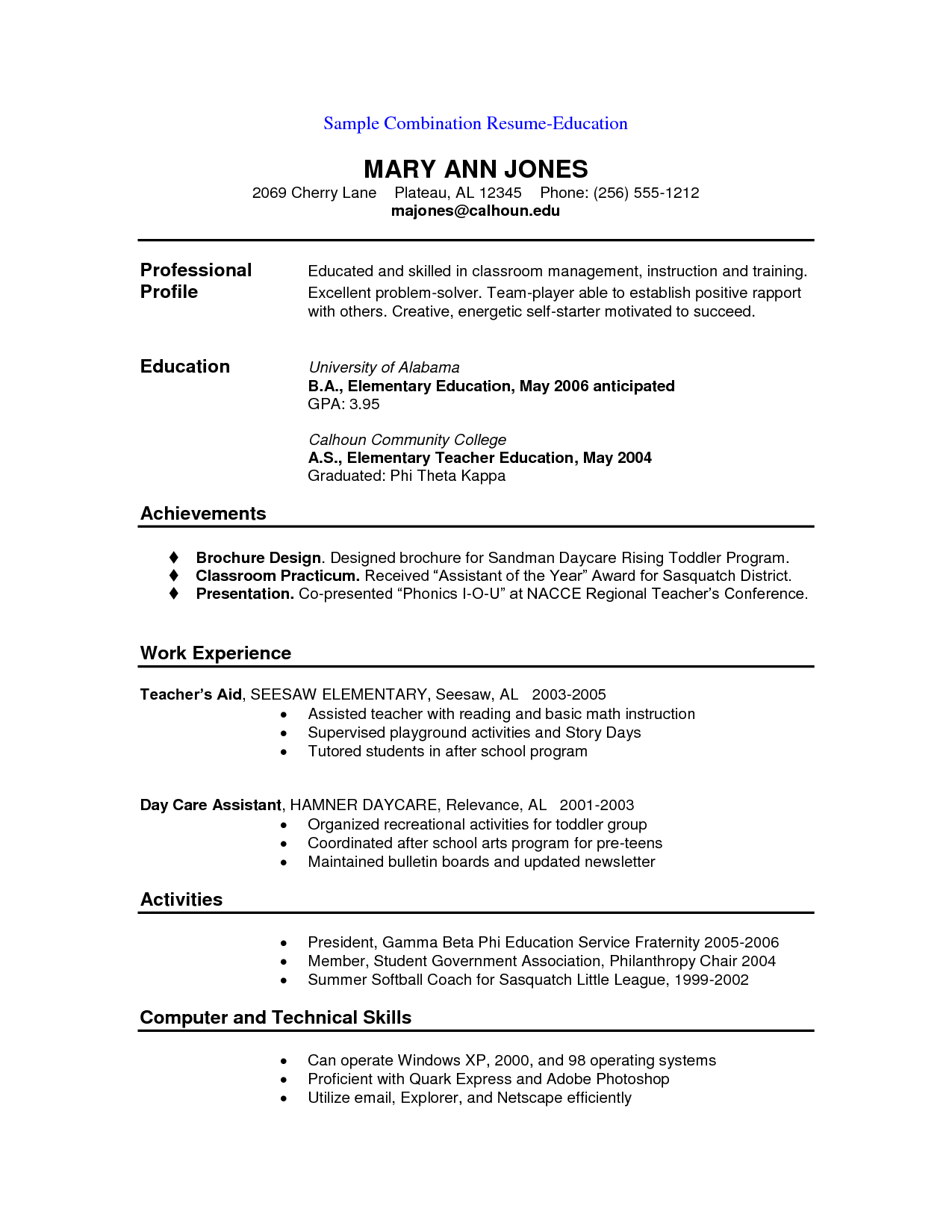 Resume Format Rules