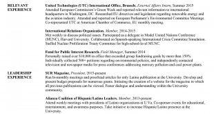Resume Templates University Student