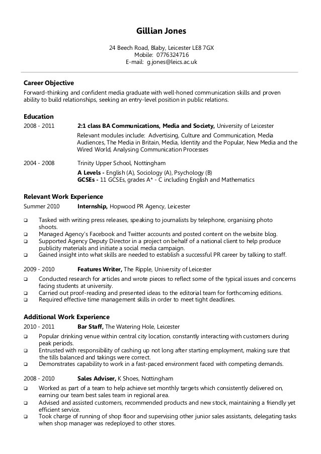A Good Resume Format