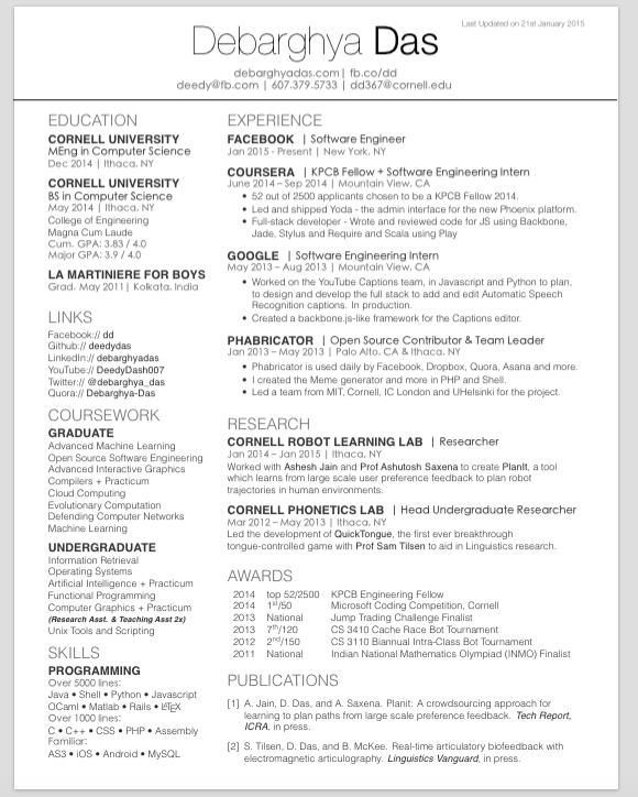 2 Column Resume Format