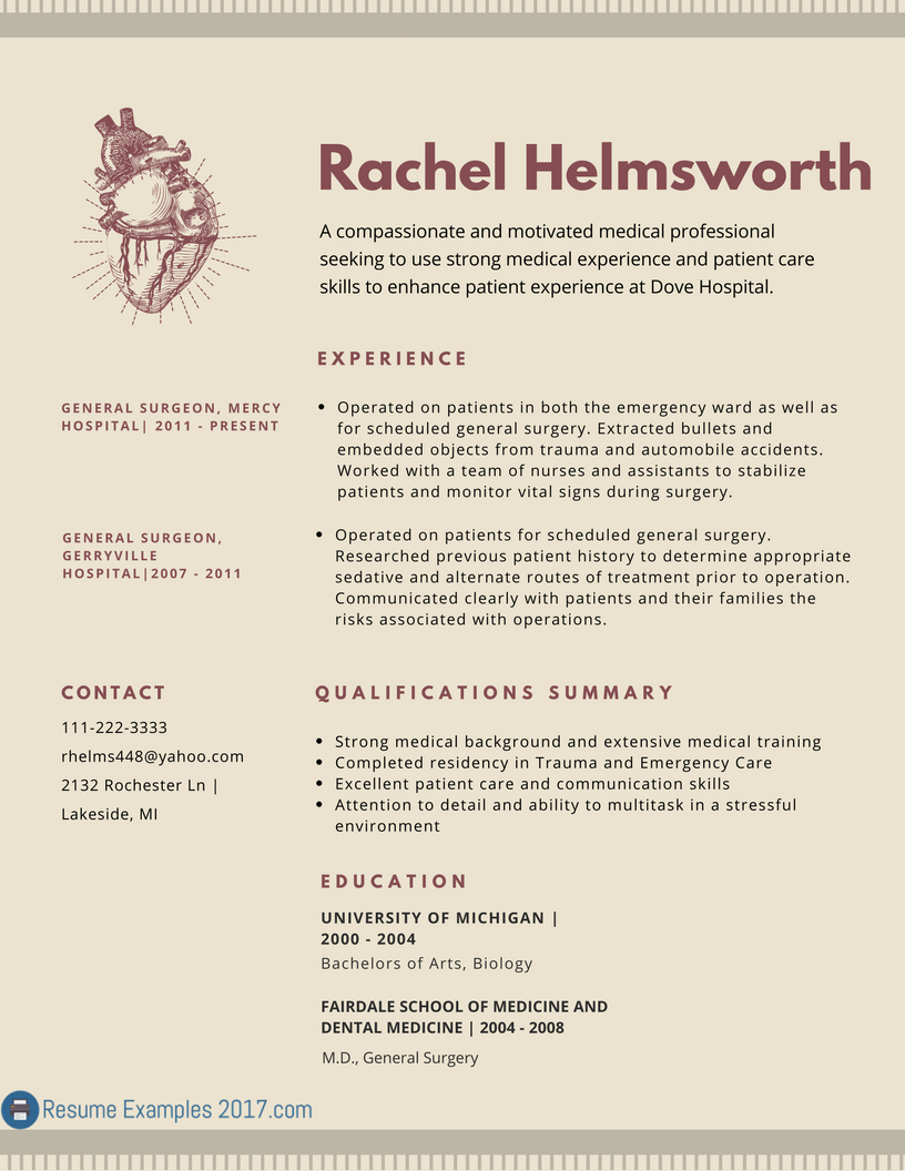 Resume Examples 2017 Skills