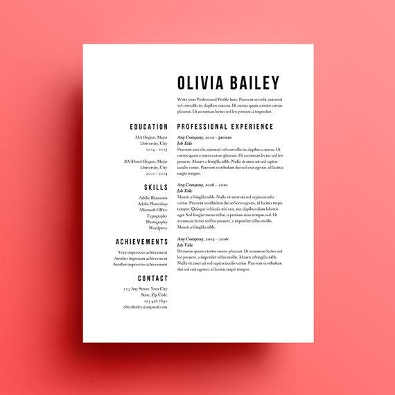 Resume Templates Graphic Design - Resume Templates