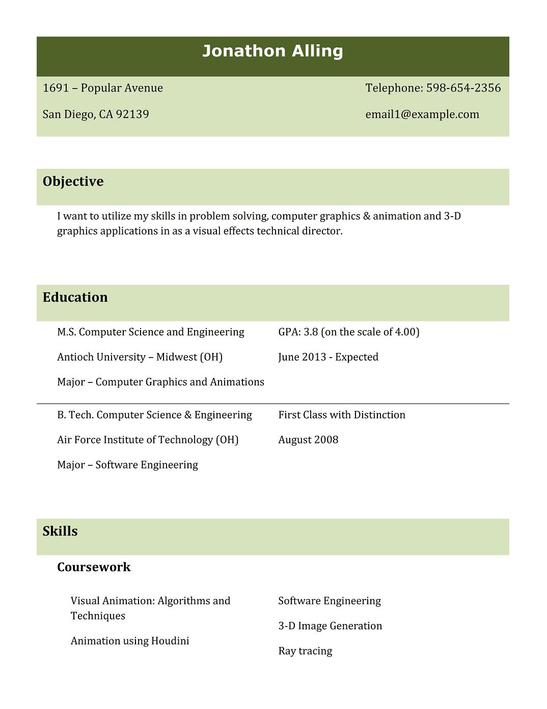 Top 5 Resume Formats For Freshers Resume Templates