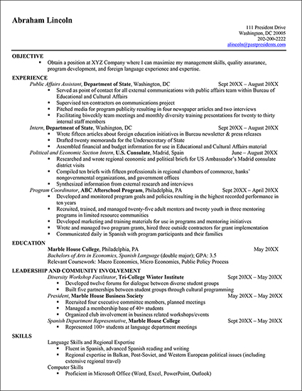 Resume Examples Usa Jobs