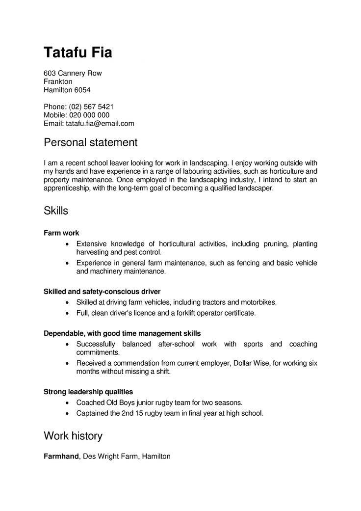 resume templates new zealand