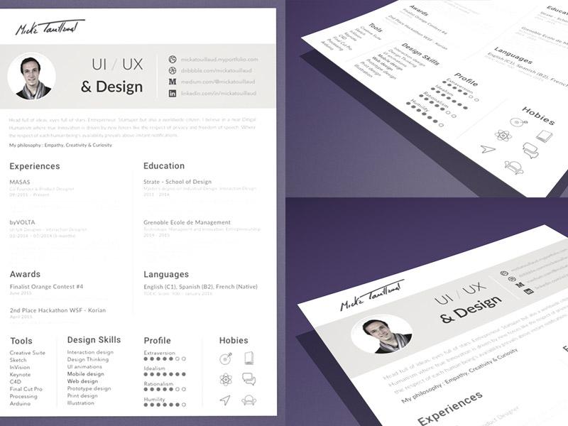 Resume Templates Sketch