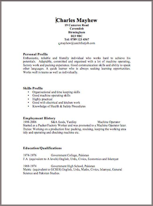 Resume Templates United Kingdom Resume Templates