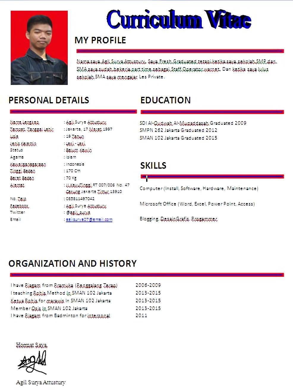 Format Resume Yang Baik Resume Templates