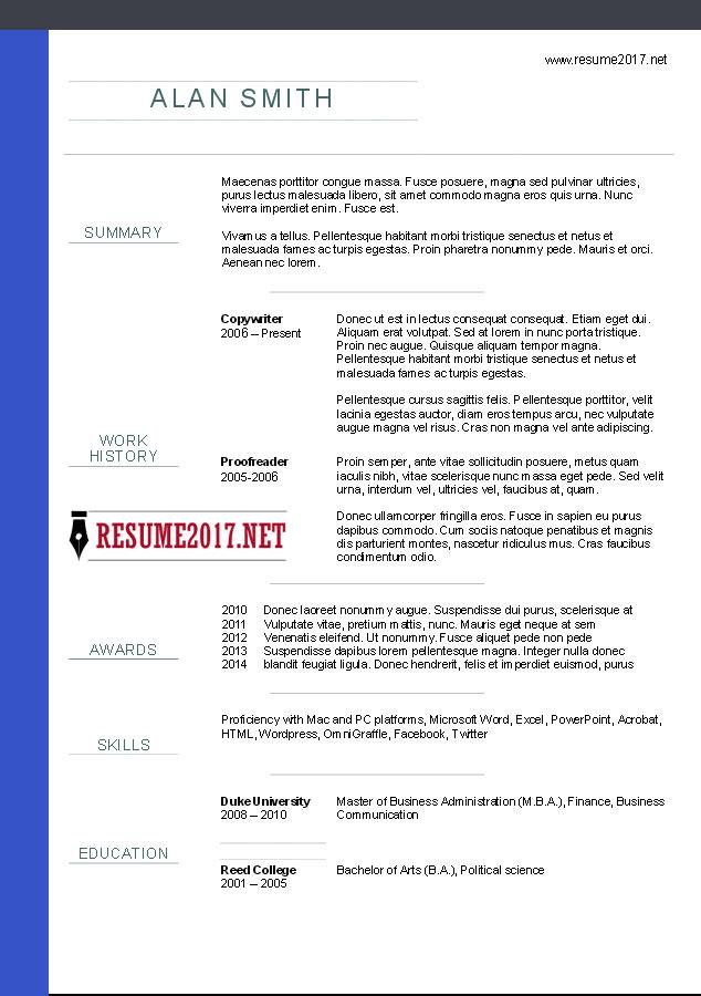 Resume Templates Non Chronological