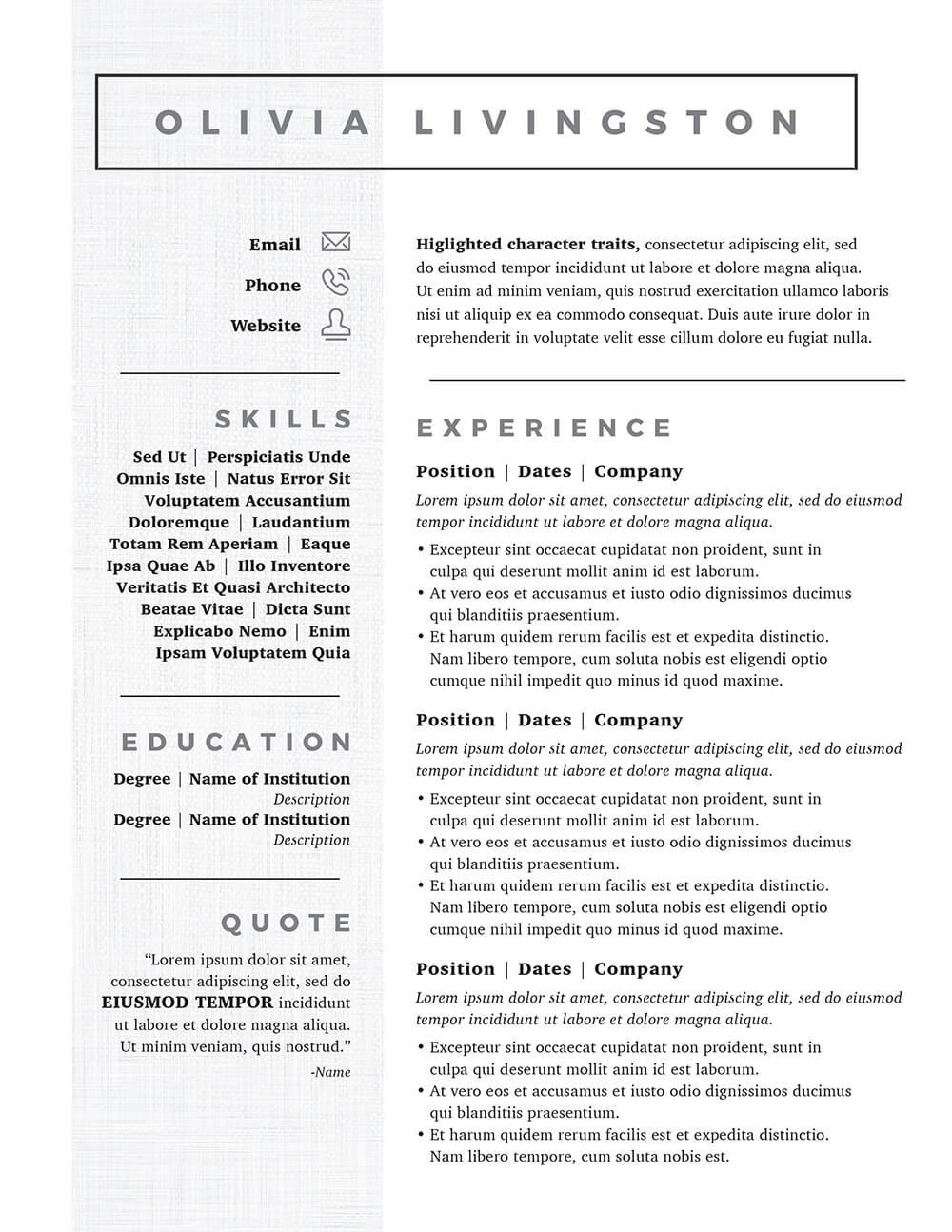 Resume Templates Kickass