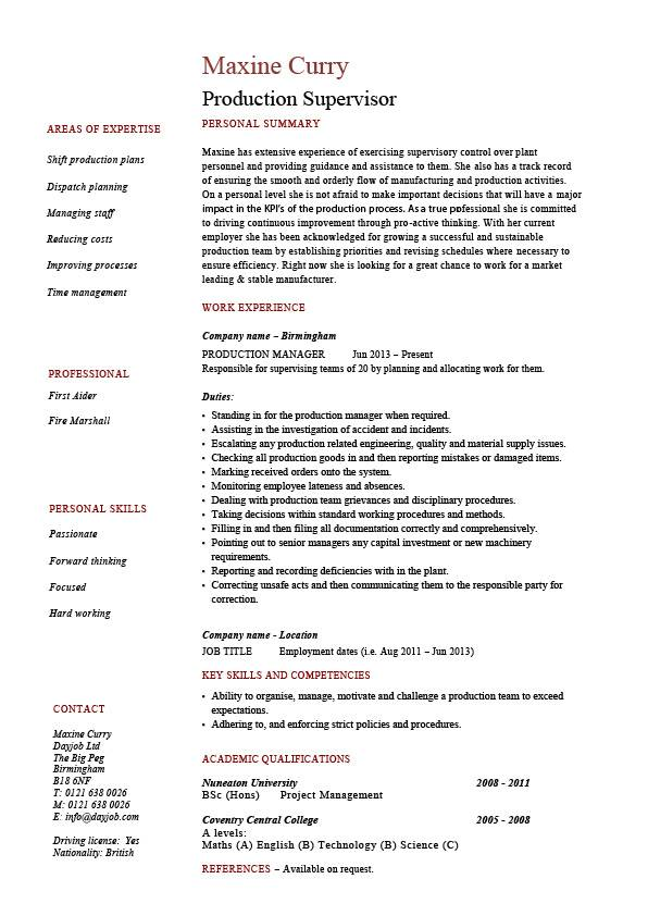 resume examples job descriptions
