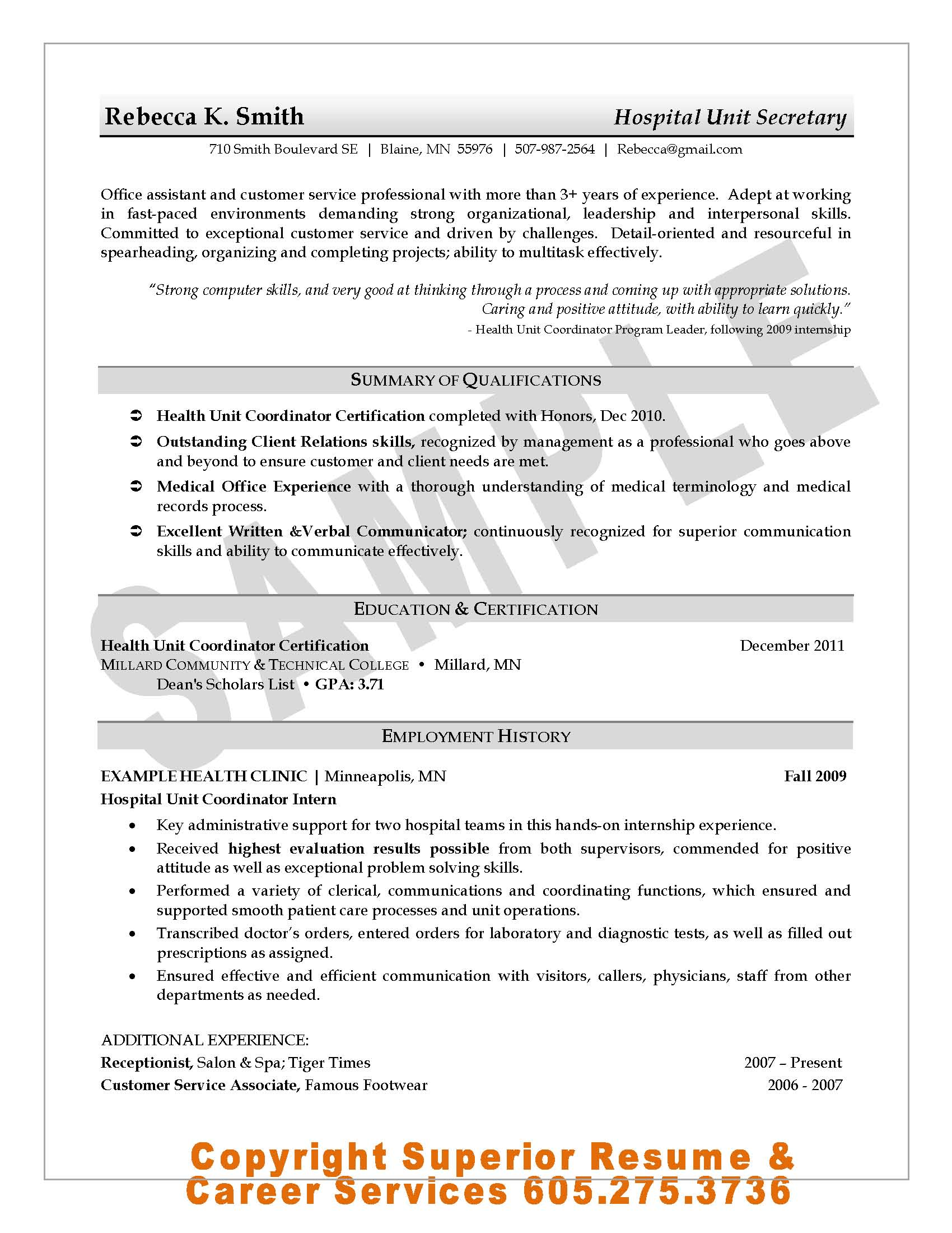 resume format references available upon request