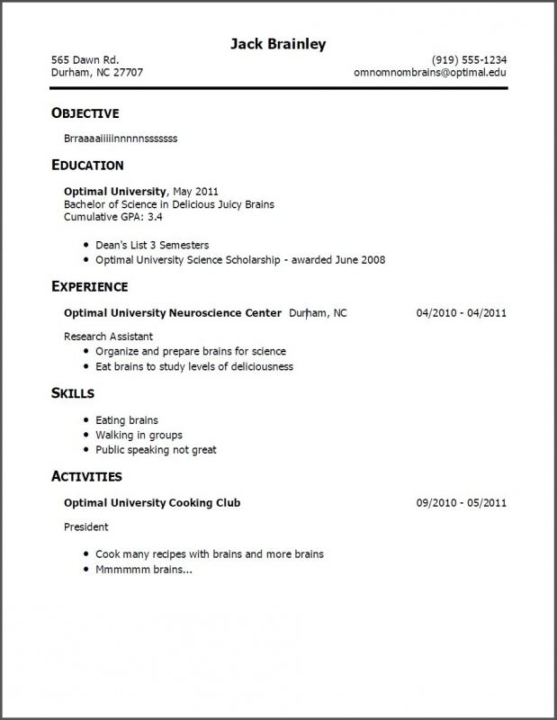 Copy Of Resume Format Resume Templates