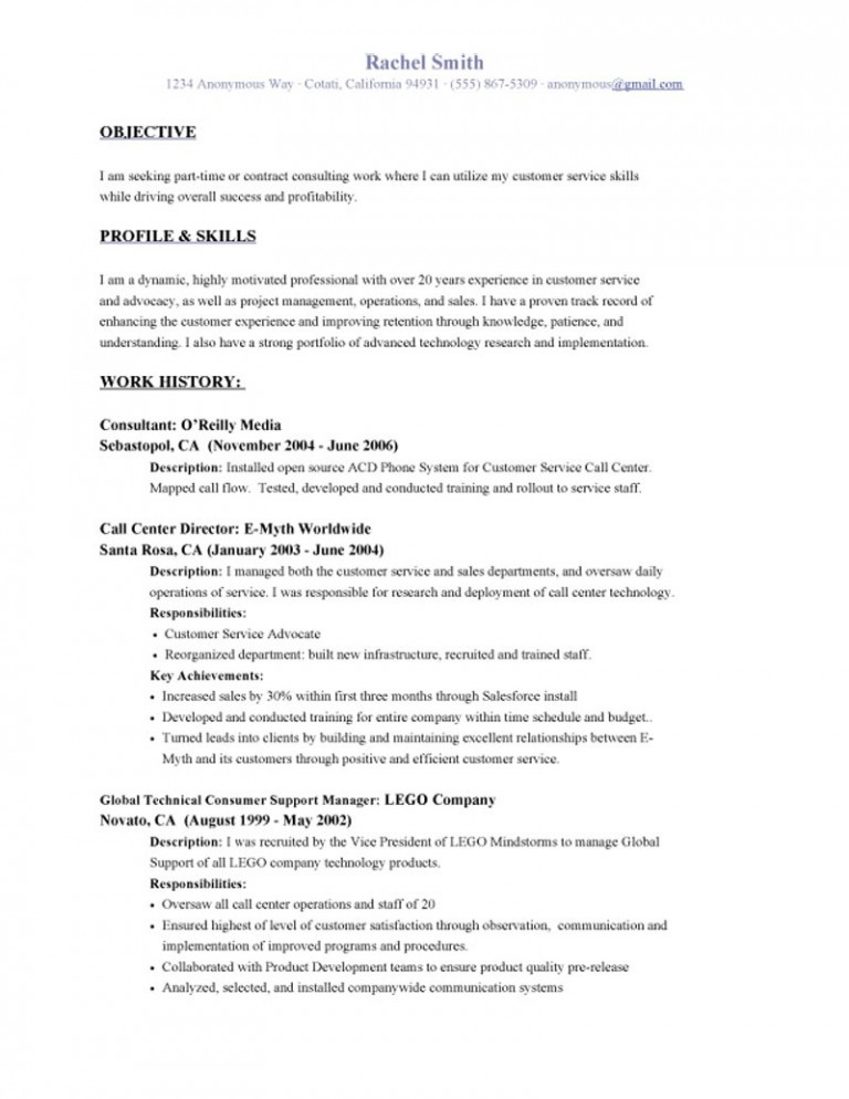 Resume Format Objective Resume Templates