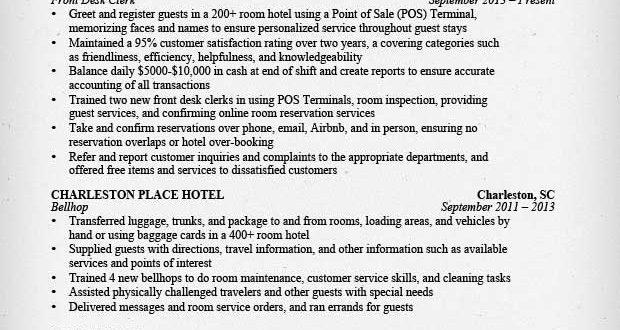 Resume Examples Hospitality