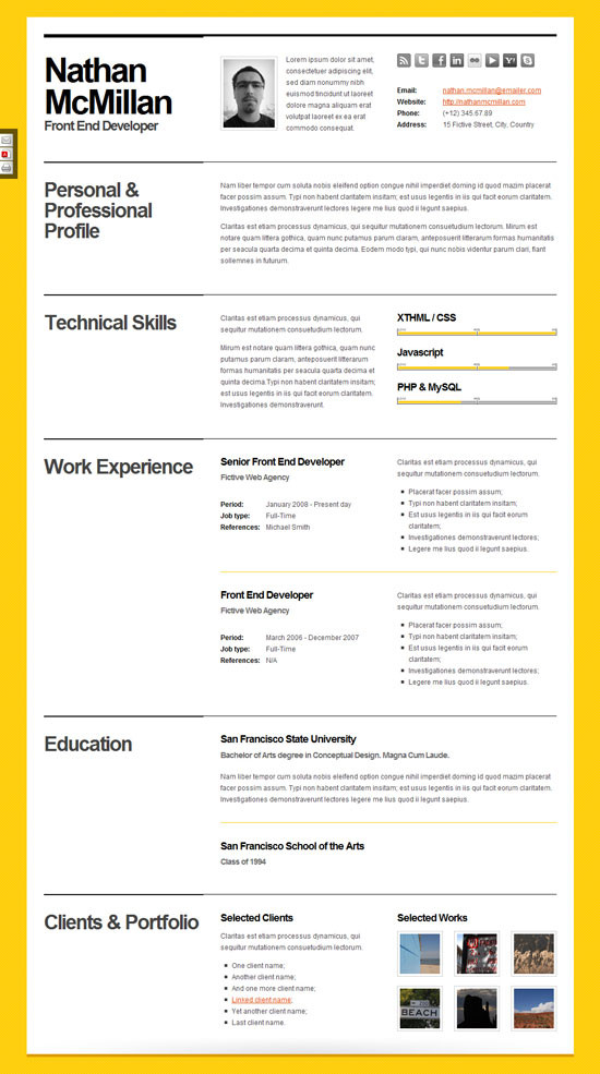 Resume Templates Buzzfeed