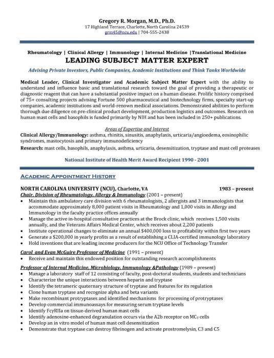 Resume Examples Executive