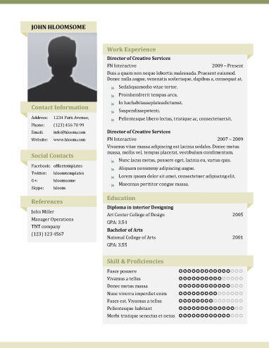 Resume Templates Unique Resume Templates
