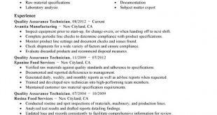 Resume Templates Quality Assurance