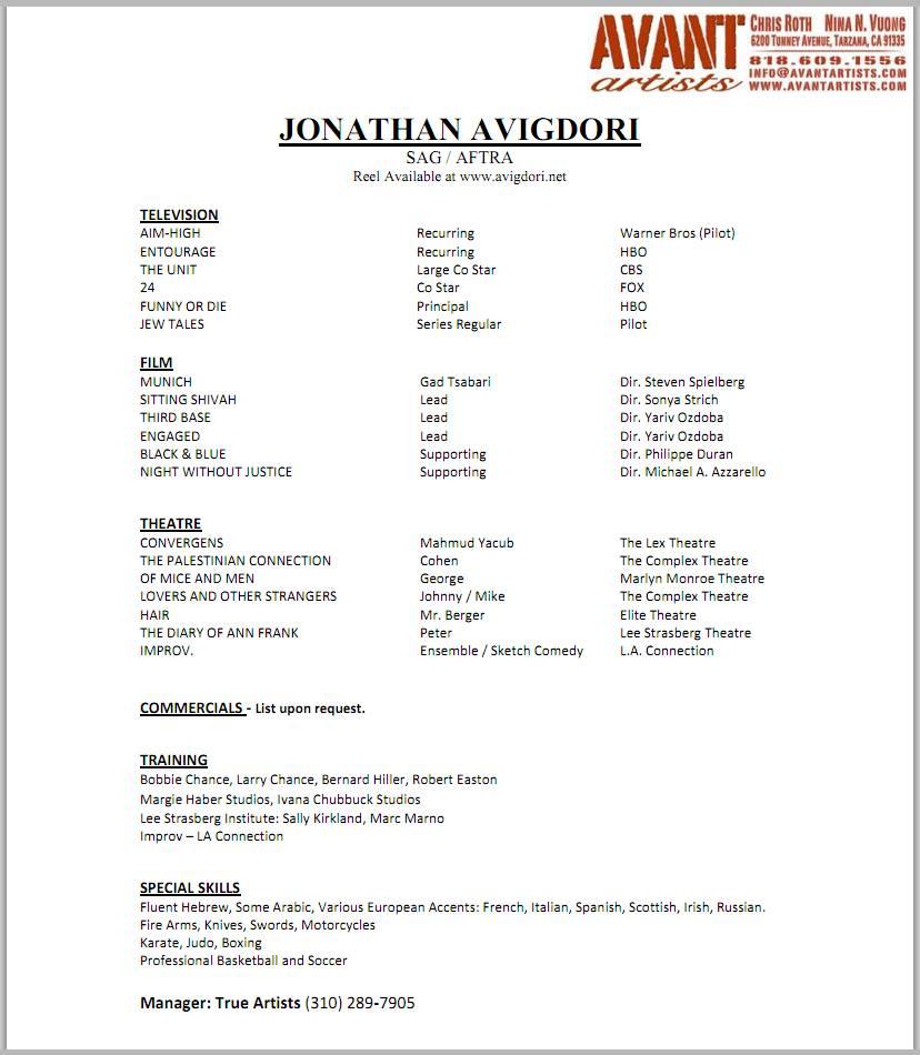 3 column resume format