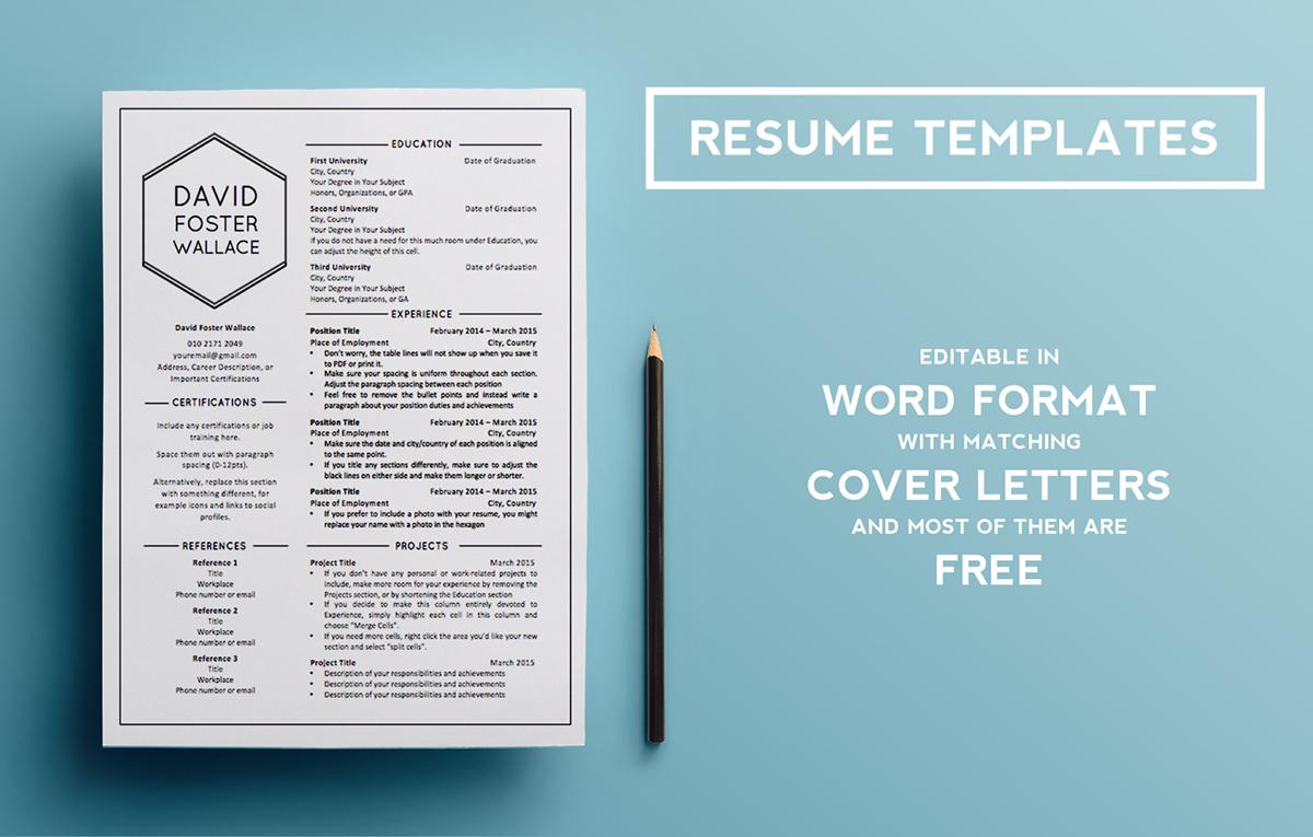 Resume Templates Behance