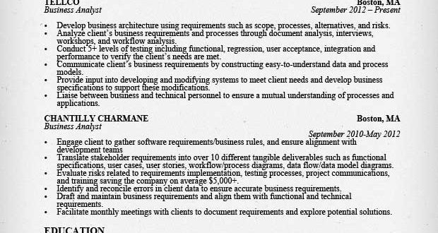 Resume Examples Business Analyst