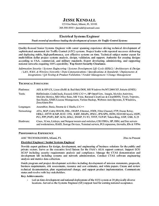 Electrical C License Resume Format - Resume Templates