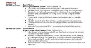Resume Examples Social Work