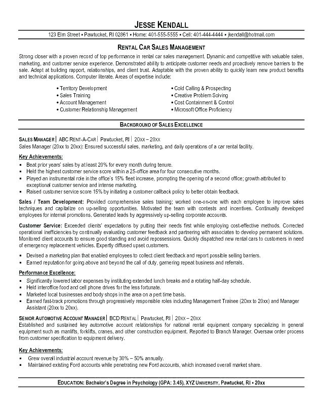 C.A.R Resume Examples