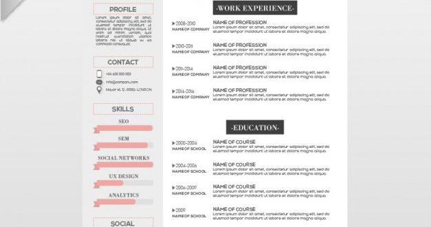 Resume Templates Graphic Design