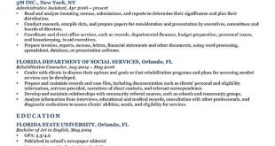 Resume Templates Job Objective