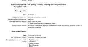 Resume Templates Language Proficiency Levels