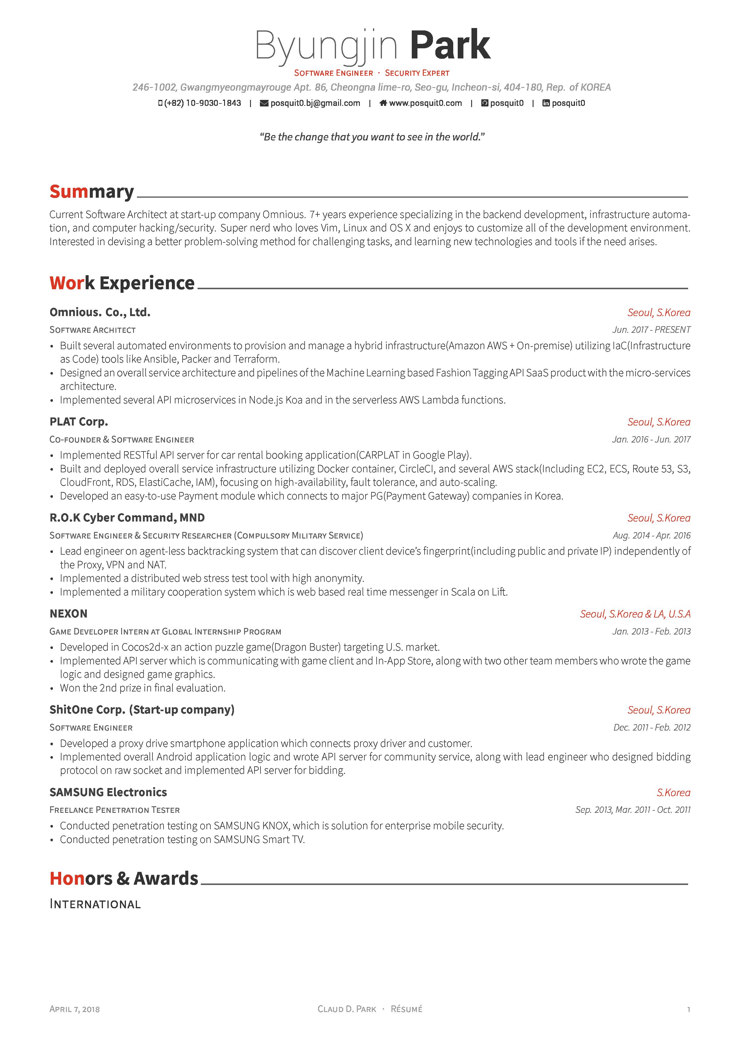 resume templates github