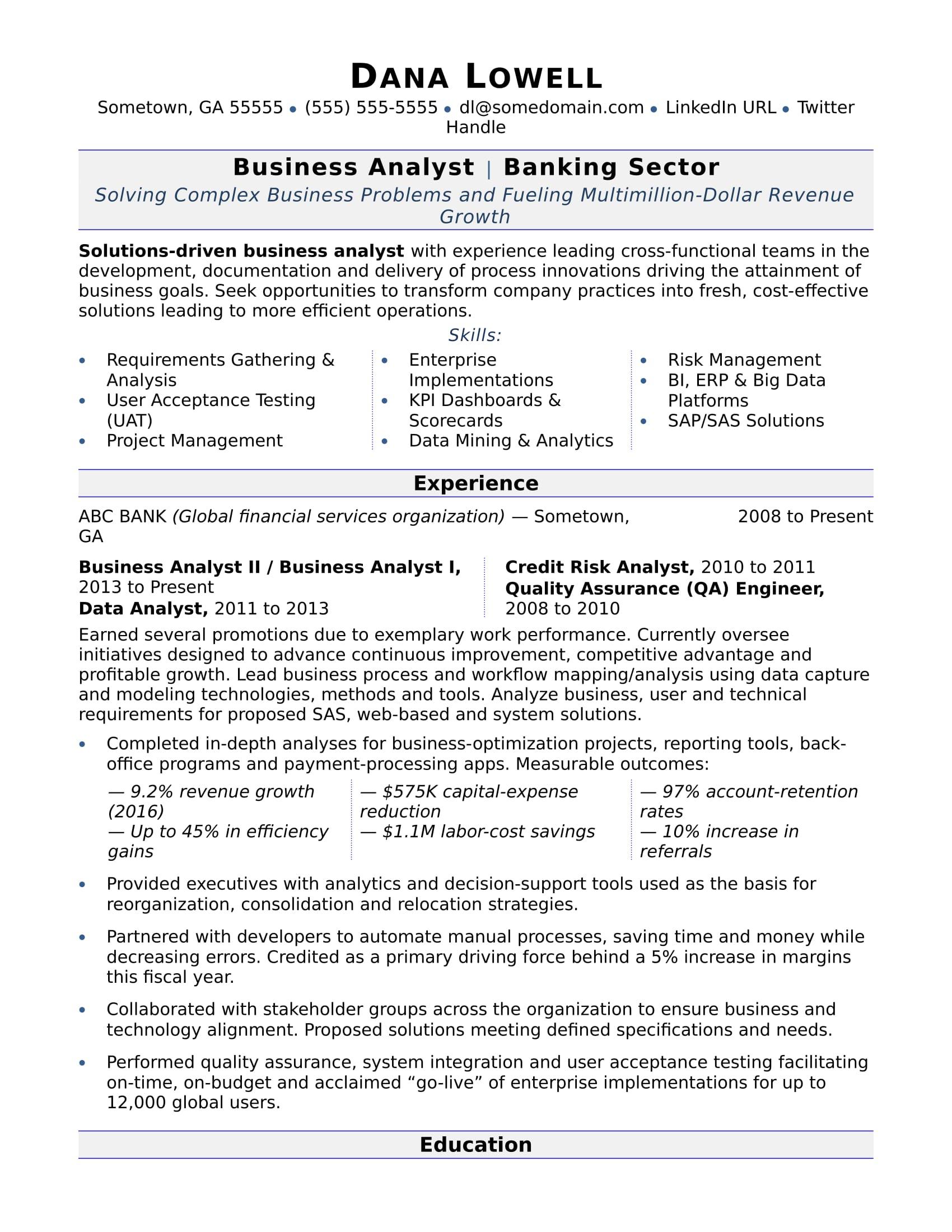 Resume Templates Monster