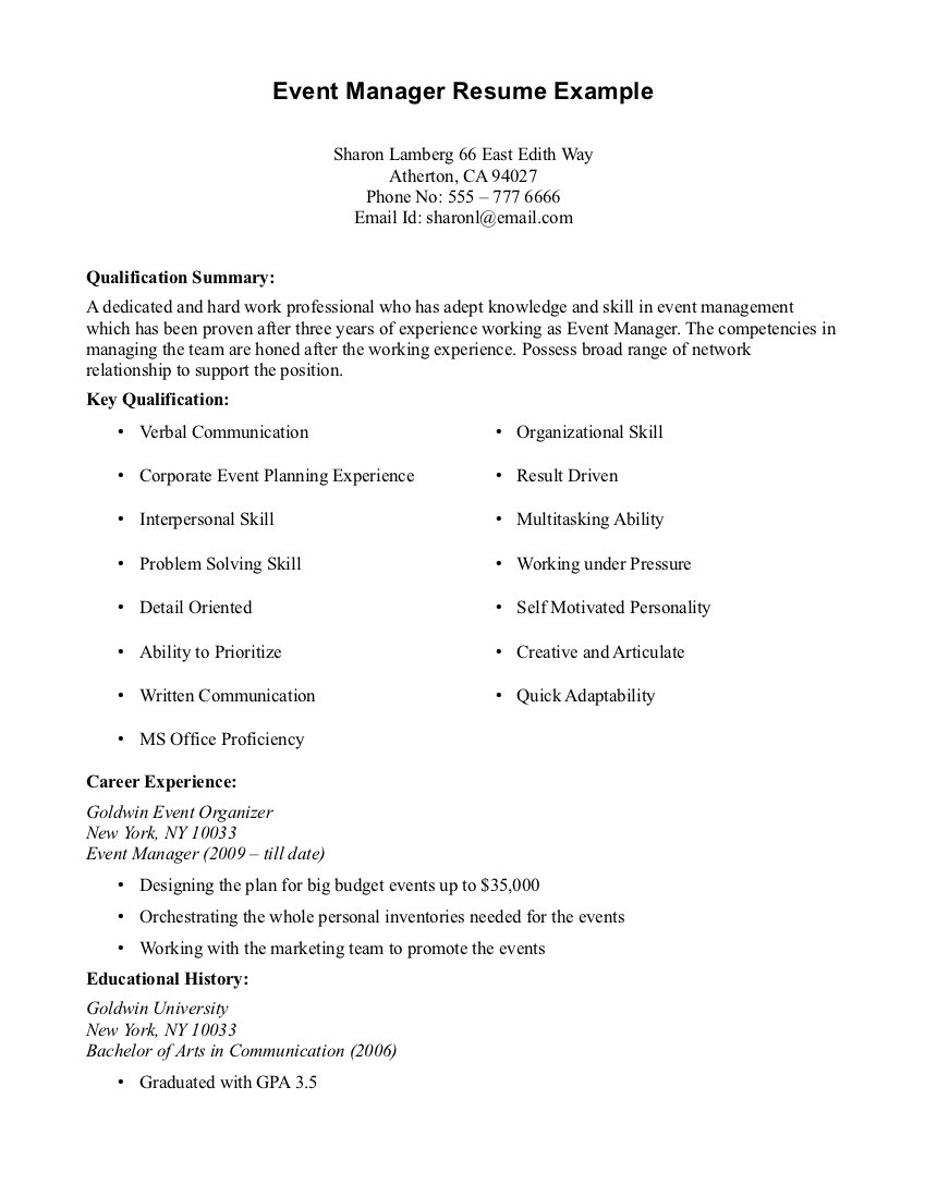 Resume Examples No Job Experience Resume Templates