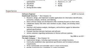 Resume Templates Software Developer