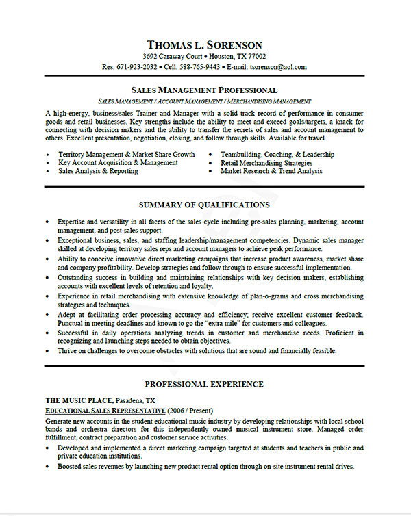 Resume Examples Usa