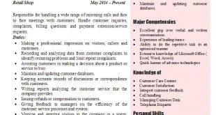 Resume Examples 2017 Customer Service