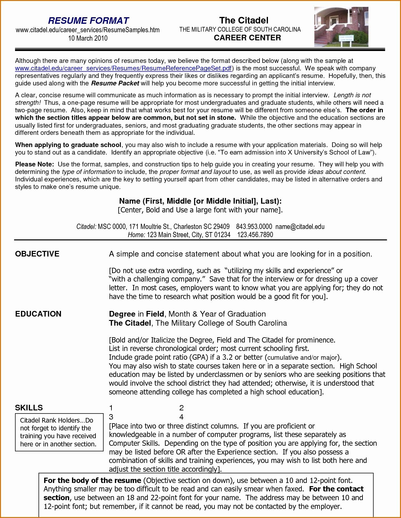 resume format 2018 sample