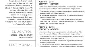 Resume Templates Kickass