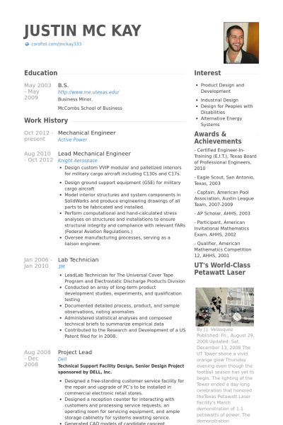 Resume Examples Mechanical Engineer Resume Templates