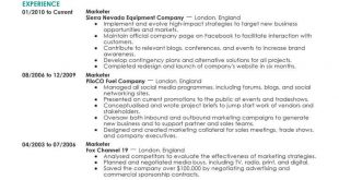 Resume Examples Marketing