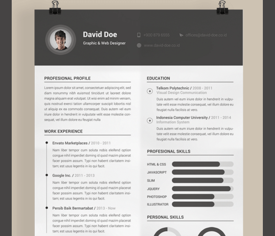 Resume Templates Adobe Illustrator - Resume Templates