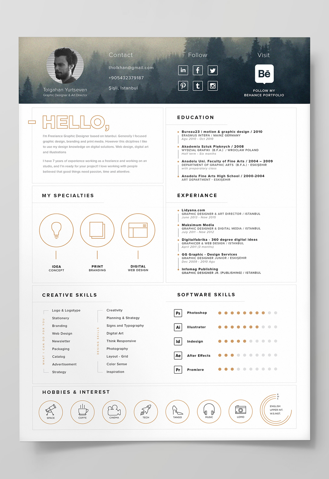 Resume Templates Adobe Illustrator