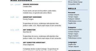 Resume Templates 2 Columns