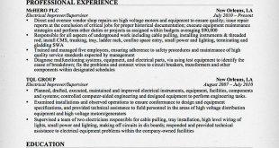 Resume Examples Electrical Engineer